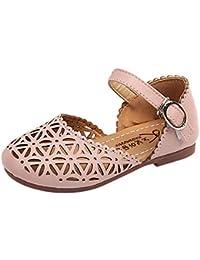 Sandali da Bambina Scarpe Romani Principessa Ragazza morbide Antiscivolo  Velcro Bambino Mary Jane Basse Ballerine Spiaggia 3317321d2c0