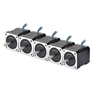 DCHOUSE 5 stücke NEMA 24 Schrittmotor 4Nm 3A 8-Kanal Dual Welle CNC Fräsmaschine Laser Router (5pcs)