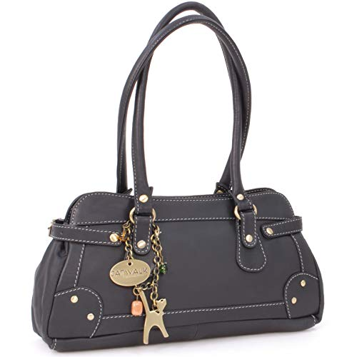 "Borsa in pelle con manico corto di Catwalk Collection""Carnaby"" - Nero"