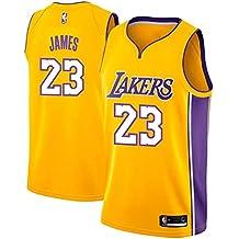 on sale 6f664 9c035 Runvian Maillot Hommes - Jersey NBA Lakers   23 de Lebron James Maillot  Swingman Basketball