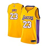MTBD Maillot de Basket, NBA #23 Retro Lakers Lebron James,T-Shirt de Joueur de...
