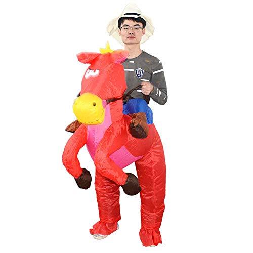 Weihnachten aufblasbarer Anzug Halloween Puppe Kostüm Cosplay Prinz aufblasbares Pferd (Weibliche Aufblasbare Puppe Kostüme)