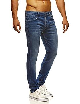LEIF NELSON Uomo Pantaloni Jeans Pantaloni Jeans Pantaloni Denim ln720bl