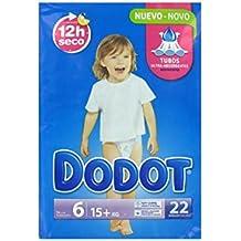 Pañales DODOT Talla 6 88 unidades (4 paquetes de 22 pañales) (15+ kg)