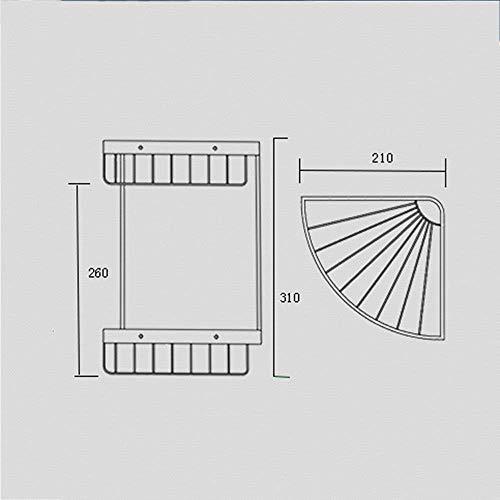 XQY Hohe Qualität Küche Badezimmer Regal, alle Kupfer Korb Zwei-Tier-Dreieck Korb Badezimmer Ecke Racks Badezimmer liefert Regale Sicherstellung der Qualität, Handtuchhalter -