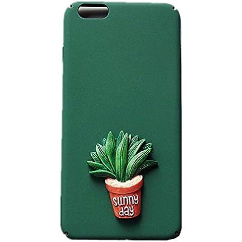 SEDERET 7 Caso iPhone, cassa bella Cactus dimensionale modello rigido di copertura resiliente ultima protezione da cadute e impatti per iPhone 7 (01)