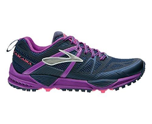 Brooks Cascadia 10 W, Chaussures de Running Compétition Femme, Red bleu
