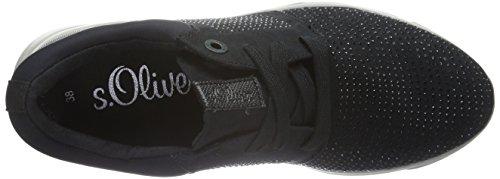 s.Oliver 23615, Baskets Basses Femme Noir (Black Uni 7)