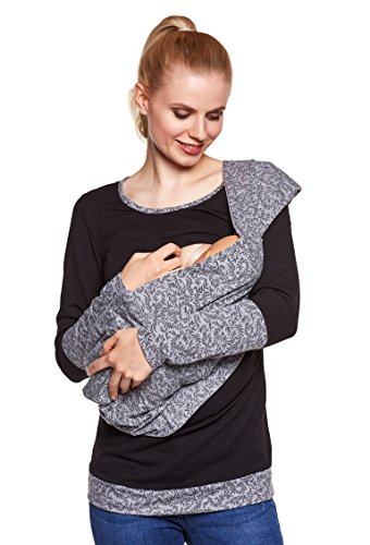 Be. Mama 2 en 1 d'allaitement en Coton Écharpe Wrap Soul, chiffon d'allaitement pour allaiter bébé, foulard, écharpe réversible - Choix de Couleurs