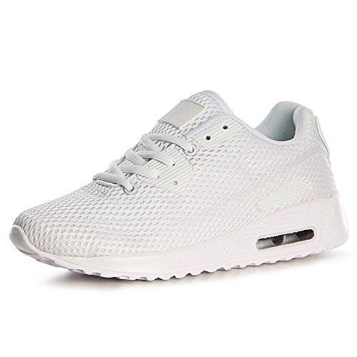 topschuhe24 1131 Damen Turnschuhe Sneaker Sportschuhe Weiß