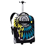 BAG Rollendes Gepäck Studentenrucksack Männer Frauen Reisetasche Kinder Mit Koffern Mit Rädern Trolley Rucksack Laptop Rucksack,A