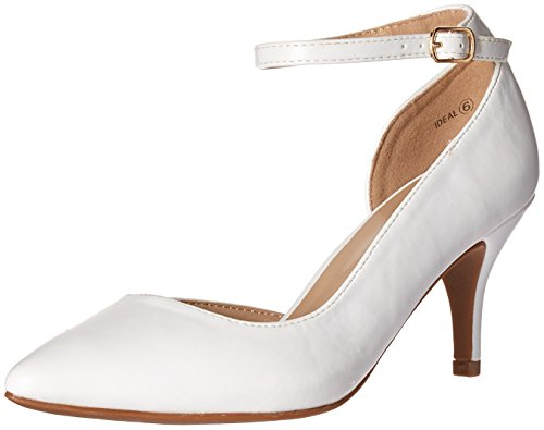DREAM PAIRS Damen IDEAL White Polyurethane 40 M EU Pu Chunky Heel