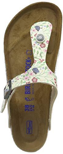 BIRKENSTOCK Damen Gizeh SFB Zehentrenner Mehrfarbig Meadow Flowers Beige, 38 EU (Birkenstock Gizeh 38)