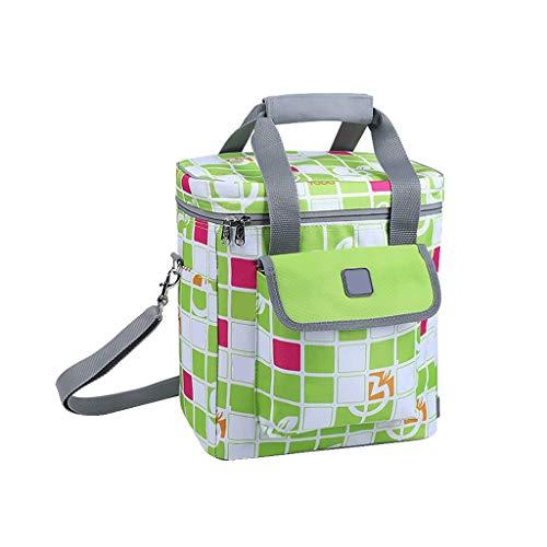 ZRYCB Kühltasche, Picknicktasche Mit Großem Fassungsvermögen, Für Den Außenbereich Geeignet, Verschlüsselt 600 Oxford + Aluminiumfolienmaterial, Langlebig - Grün -