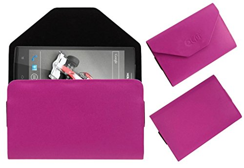 Acm Premium Pouch Case For Lava Xolo Q2000 Flip Flap Cover Holder Pink  available at amazon for Rs.179