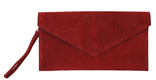 Big Handbag Shop , Damen Clutch One, Blau - Blu (Blu navy) - Größe: One Size dunkelrot