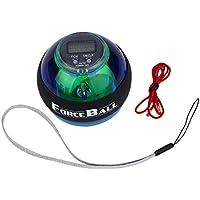 Delicacydex Multifuncional LED Muñeca Fuerza Fuerza Grip Ball Arm Muscle Ejercicio Medidor de Velocidad Contador Función 2 Colores