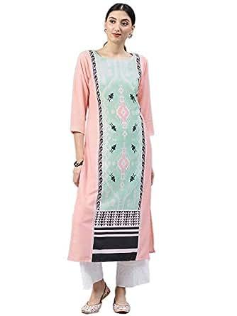 Vaamsi Women's A-Line Kurta (VPK1516_S_Pink_small)