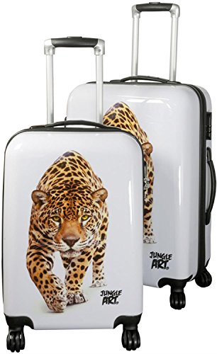 ABS Hartschalen Koffer Set von normani in verschiedenen Farben und Ausführungen Farbe Leopard