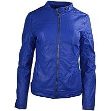 Las mujeres constituyen Faux Leather Jacket Ladies Llanura costura