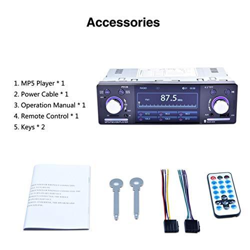 """Lecteur de Voitures, 4.1"""" HD 1080P LCD écran Tactile 800 * 480 MP5 Voiture Bluetooth 7 Couleur Bouton Back Light Miroir Lien FM/AM / RDS Tuner émetteur"""