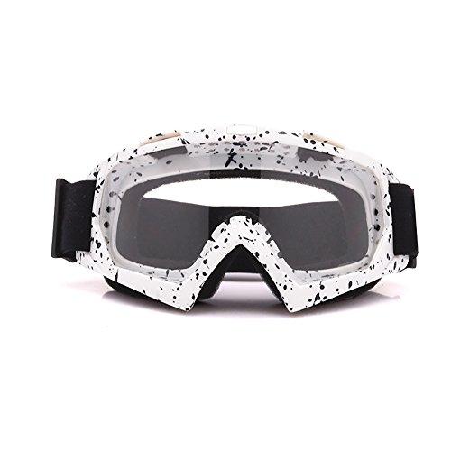 Meijunter Lunettes Equitation Coupe-Vent, Lunettes de Moto, Masques et Lunettes de Ski Snowboard Goggle pour Adultes Unisexes