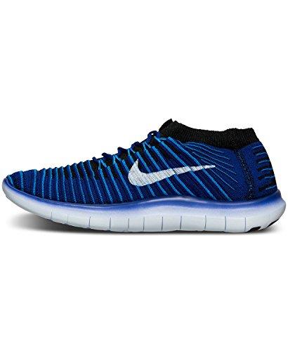 Nike W Free Rn Motion Flyknit, Chaussures de Running Entrainement Femme Orange (concorde / blanc - bleu photo - noir)