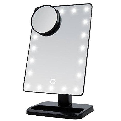 Eplze Kreativ Multifunktionales Schminkspiegel Licht LED-Schreibtischlampe Berührungsempfindliche Augenschutz Leseleuchte (Schwarz) Schwarz Schminkspiegel