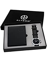 Altedo Giftset - Black Dial Men's Watch & Wallet - Combo Pack For Men