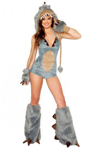 Fell-Kostüm SEXY DINO Gr. S/M (Sexy Erwachsene Wolf)