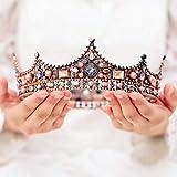 Handcess wedding Crown tiara e fiore nuziale principessa Regina corona barocco vintage strass fascia per la sposa e damigelle d' onore