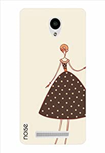 Noise Adorable Girl In Brown Printed Cover for Vivo Y28