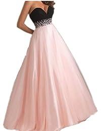 2082f0c3b7a5 Abiti da Cerimonia Eleganti Estivi Donna Abito da Sposa Lunghi Vestiti da  Sera Vintage Tulle Bandeau
