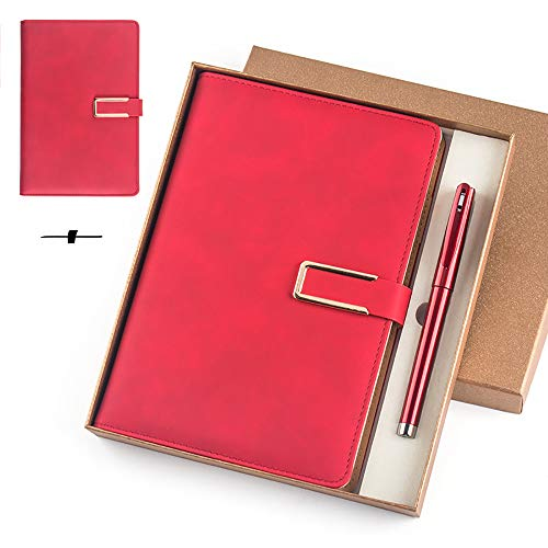 ZUEN 2er Pack Liniertes Notizbuch/Notizblock, A5 Leder Journal Reisende Notizbuch 130 Seiten Notizblock Retro Tagesplaner, Geschenkbox -