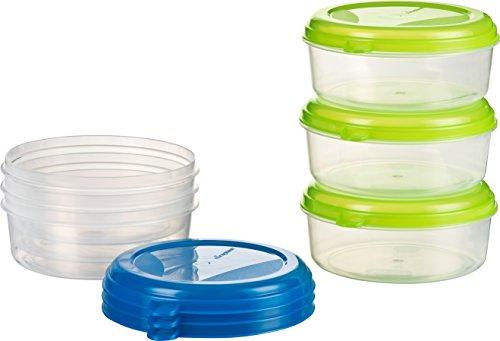 Kigima Frischhaltedose Gefrierbehälter 6x 0,5l rund blau und grün