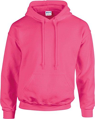 Gildan Kapuzen-Sweatshirt Safety Pink