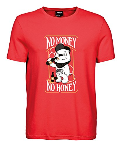 makato Herren T-Shirt Luxury Tee No Money No Honey Coral