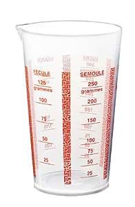Deglon 9915800-V Verre Doseur Plastique 1/4 L