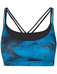 Mountain Warehouse IsoCool Double Strap Printed Women's Sports Bra - Quick Drying, Breathable, Wicking, Antibacterial, Odour Free IsoCool Fabric With Easy Care