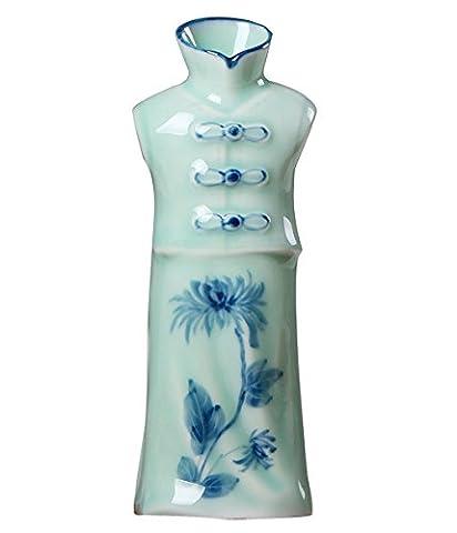 Vases Céladon Costumes, Ornements De Ménage En Céramique Peints à La Main, L'artisanat Céladon, Fleur Bleue Est,E