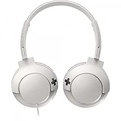 (CERTIFIED REFURBISHED) Philips Bass+ SHL3075 Closed Back Headphones with Mic (White)