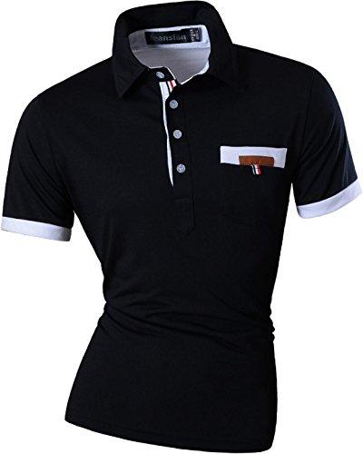 87c0e81dfcc Jeansian Hombres De Ropa Informal Slim Fit De Manga Corta Camisetas Mens  Dress Casual Slim Fit