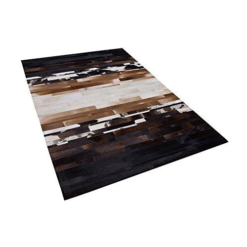 Tapis en dégradé Noir et Beige 140 x 200 cm Dalyan