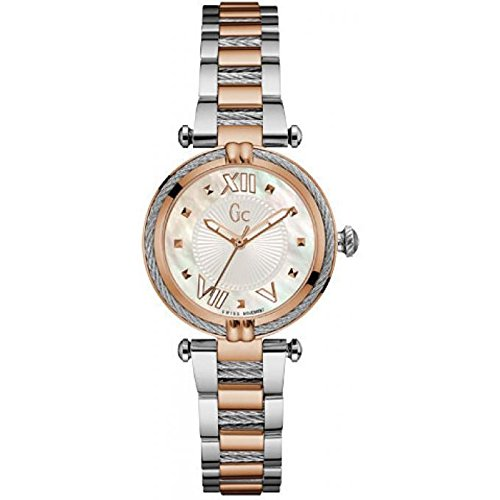 Guess Collection GC ladychic Donna 32 mm Bracciale acciaio bicolore quarzo quadrante madreperla Orologio y18002l1