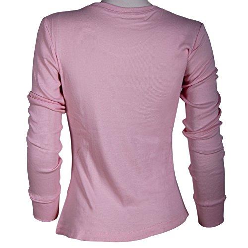 Godsen Damen Thermo Langarmhemd langärmelig Shirt 4 Farben zur Auswahl Rosa