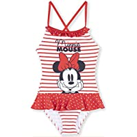 6b1fcbf311e4c Disney Minnie Mouse Girls Swimsuits One Piece Swimwear 2-8 Years - Stripes,  Polka