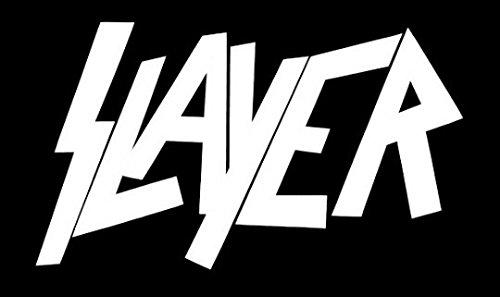 Slayer, logo / tuning sticker, vinyl / (15cm) high quality product / spitzen qualität !!! + Farbwahl (weiß) (Weiße Roll Spitze)