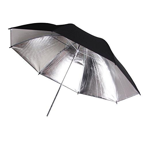 """POLAM-FOTO 33""""/84cm Parapluie RšŠflecteur/Parapluie šŠclairage Professionnel Parapluie Noir/Argent (1 piššce)"""