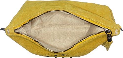 Chicca Borse 1509, Borsa a Spalla Donna, 28x19x2 cm (W x H x L) Giallo