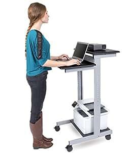 mobiler ergonomischer stand up computerschreibtisch schwarz schreibtisch l nge 60cm amazon. Black Bedroom Furniture Sets. Home Design Ideas